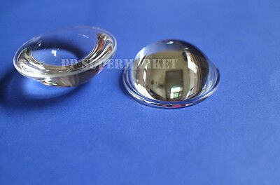 44mm LED Lens Lamp Light Reflector Collimator Wide Angle for 20W 30W 50W 100W