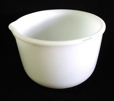 Vintage Milk Glass GLASBAKE Mixing Bowl #16 for SUNBEAM Made in USA