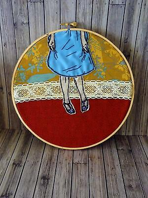 Curtsey - Handmade Embroidery Art in Hoop - ONE OF A KIND