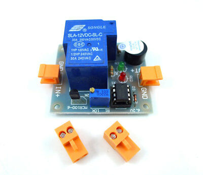12V battery against excessive discharge controller protection alarm board
