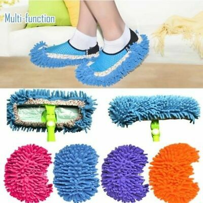 Mop Socks Shoe Slippers Lazy Polishing House Floor Dusting Cleaning Foot WFAU
