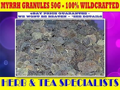 MYRRH GRANULES 50G☆ WILDCRAFTED Commiphora molmol☆MAGICK☆PROTECTION☆HEALING