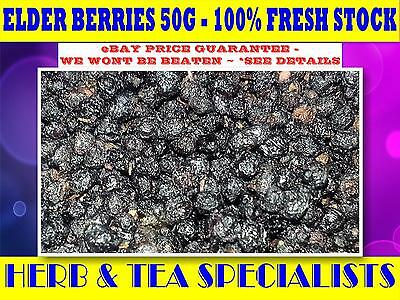 ELDER BERRIES 50g 100% ORGANIC☆ ELDERBERRIES☆Sambuccus nigra☆