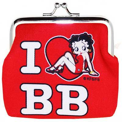 New Genuine Betty Boop 'I love BB' Coin Purse - Ideal Gift Official UK Licensed