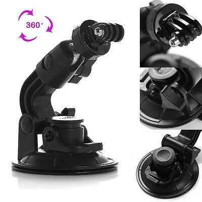 Universal Suction Cup Mount + Tripod Adapter for GoPro HD Hero 3+ 3 2 1 Camera