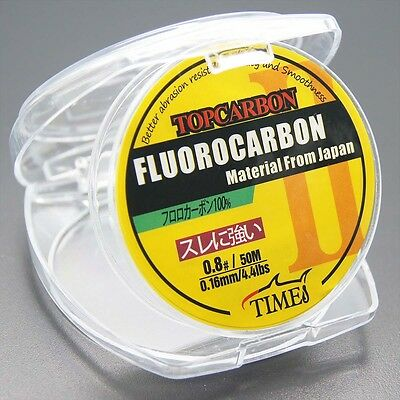 New! Fluorocarbon Fishing Line 4.4LB/50M Color Clear Material From Japan