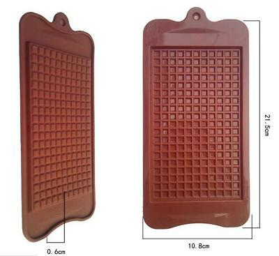 Grid Chocolate Block Large Thin Choc Bar Mold Silicone Ice Tray Candy Soap Mould