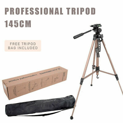 145CM Professional Camera Tripod Digital Travel Camcorder Video Tilt Pan Head