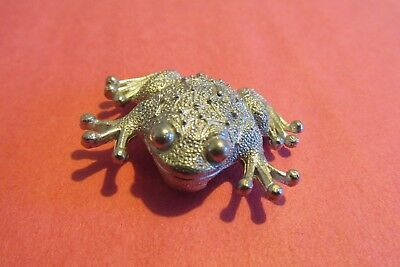 Pewter Frog Figurine Hand Crafted American Made Quality