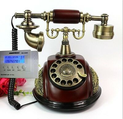 Rotary Antique European Style Corded Telephone Retro Vintage home office Phone