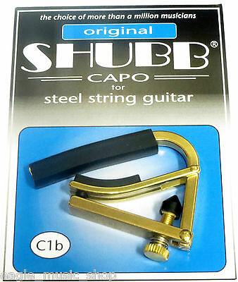 Shubb C1b Acoustic Guitar Steel String Capo