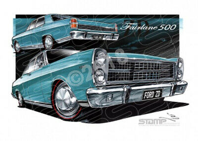 Fairlane 500 1971 Zd Ford 500 Fairlane Candy Teal Glow  Stretched Canvas (Ft201J