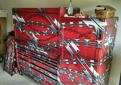 Custom Snap-on Toolbox,Tools, Diagnostic Tools, and Diesel Engine Part's