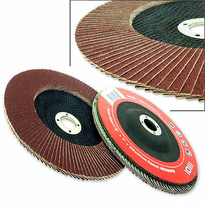 "10 pc Aluminum Oxide Flap Disc 4-1/2"" Bevel 80 Grit Grinding Wheel Sanding Disc"