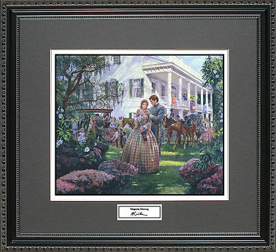 Mort Kunstler MAGNOLIA MORNING  Framed Print Civil War Wall Art Gift