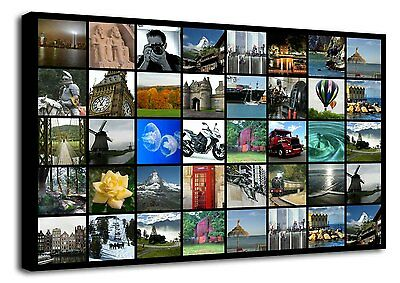Personalised Photo Collage Canvas Print, Box Frame d201