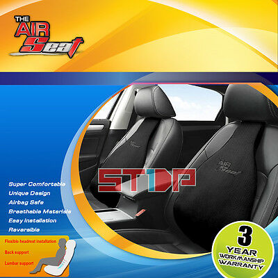 'THE AIR SEAT' CAR 4X4 4WD BACK LUMBAR SUPPORT pain travel cushion BLACK or GREY