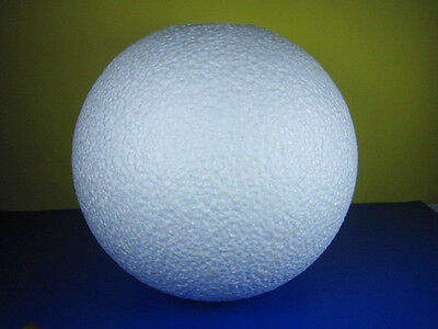 NEW  1 PC  WHITE STYROFOAM BALL FOR  ART/ CRAFT 10 INCHES DECOR  FREE SHIPPING