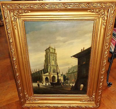 Old painting of the 19th century 1881 Germany  M.SANDER STUTTGART 917 USD