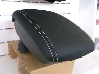 Nissan Juke Genuine Front Centre/Center Console Armrest Leather With White Stit