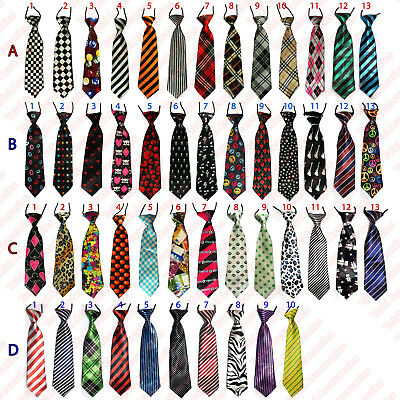 Elastic Neck Tie - Smart Formal Weddings Boys Kids Youth Necktie Ties - NEW