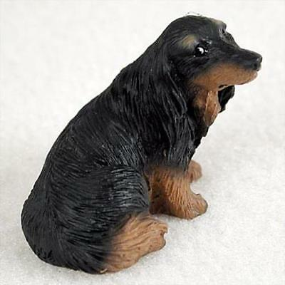 DTN60B CON Dachshund Longhaired Black Tiny One Figurine