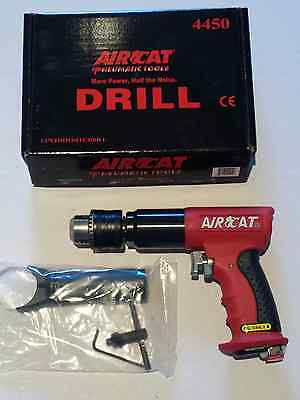 "AIRCAT 1/2"" QUIET Reversible Air Drill with Feather Trigger, 400 RPM #4450"