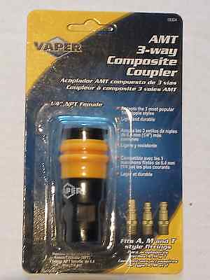 "Vaper Universal Air Hose Coupler, 1/4"" NPT, Fits A, M & T Style Fittings #19304"