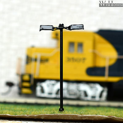 15 pcs HO Scale Model Lamppost Street Light SMD LED Made Courtyard Lamp #048