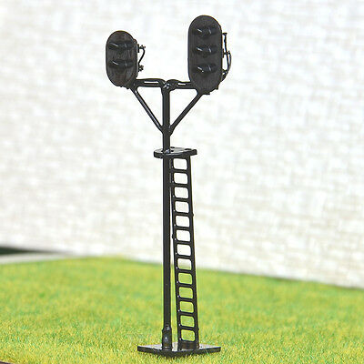 1 pcs HO Scale 1:87 LEDs Made 2 side Railroad Branch Signals 2 aspects+3 aspects