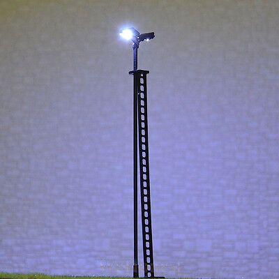 2 pcs HO scale Model Yard Light Cold SMD LED made Cold Lamppost longlife #R44