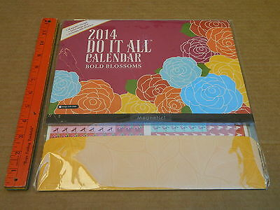 "2014 Wall Calendar New 12 x 12"" DO IT ALL BOLD BLOSSOMS"