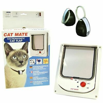 Cat Mate Electromagnetic Pet Door Flap - Keep Out Unwanted Cats!