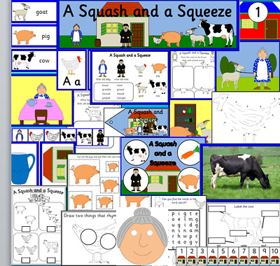 A SQUASH AND A SQUEEZE - story resource on CD- EYFS, KS1, Childminder, SEN