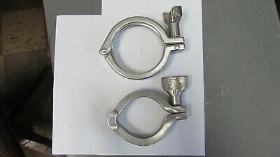 """Stainless Steel Sanitary Pipe Clamp 2-1/4"""", 2-3/4"""" Inch"""