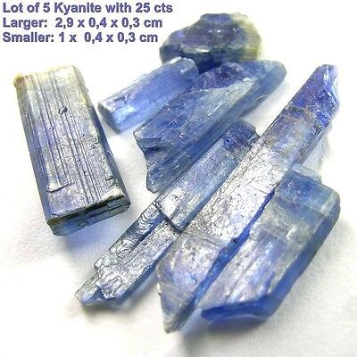 LOT SET 8 Stone Collection 21.5CTS KYANITE Natural Gem Blue Crystal FROM BRAZIL