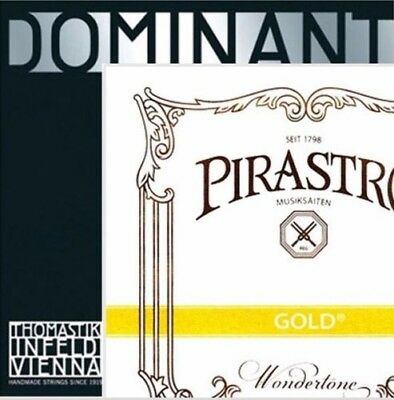 New Tonica Violin String Set A,D,G with Pirastro Gold Label E Ball End 4/4