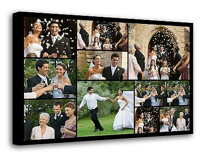 Personalised Photo Collage Canvas Print - ready to hang 11 photos f105