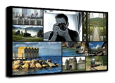 Personalised Photo Collage Canvas Print - ready to hang 9 photos f107