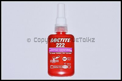 UK Loctite 222 Threadlocker 50ml Adhesive Glue Low Strength Thread Locker Screw