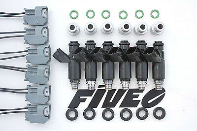 2000cc Fuel Injectors High Z RB20 RB26 RB30 RB25 Neo Oxy Gas E85 Matched Set NEW
