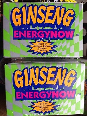 2ct BOX Lot Of GINSENG ENERGY NOW, BOX HAS 24 PKS=48 Packs Total 144 Pills