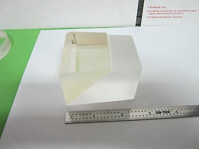 OPTICAL PRISM DUAL GLASS TYPE [chipped edge] MIL SPEC LASER OPTICS BIN#A5-B-17