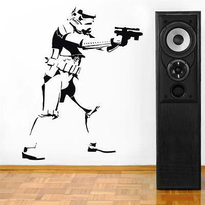STORMTROOPER Decal WALL STICKER Silhouette Home Decor Art Star Wars ST80