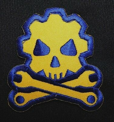 Death Mechanic Morale Badge Usa Army Full Color Velcro® Brand Fastener Patch