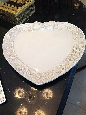 Large Heart Shaped pottery Platter Made in Italy