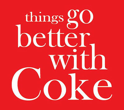 Things go better Coke vinyl sticker decal soda machine collectibles vintage 80's