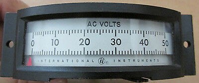 NEW NOS International Instruments Model 2500 Panel Meter 0-50 Volts AC