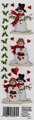 Royal & Langnickel Glitter Rub-ons - *SNOWMEN, HOLLY & HEARTS