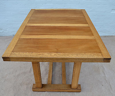 VINTAGE AIR MINISTRY OAK LARGE EXTENDING DRAW LEAF DINING KITCHEN TABLE 1950s